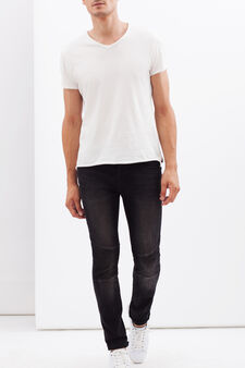 Faded-effect stretch jeans, Denim, hi-res