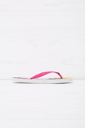 Thong sandals with palm tree print, Pink, hi-res
