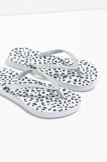 Glitter animal flip flops