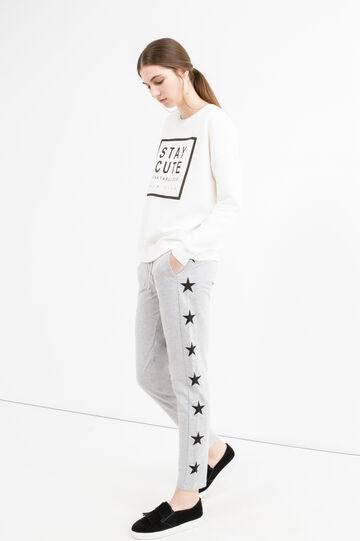 Pantaloni tuta con patch stelle