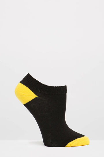 Two-pair pack socks with pattern, Black, hi-res