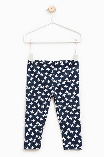 Set due pantaloni unito e fantasia, Grigio/Blu, hi-res