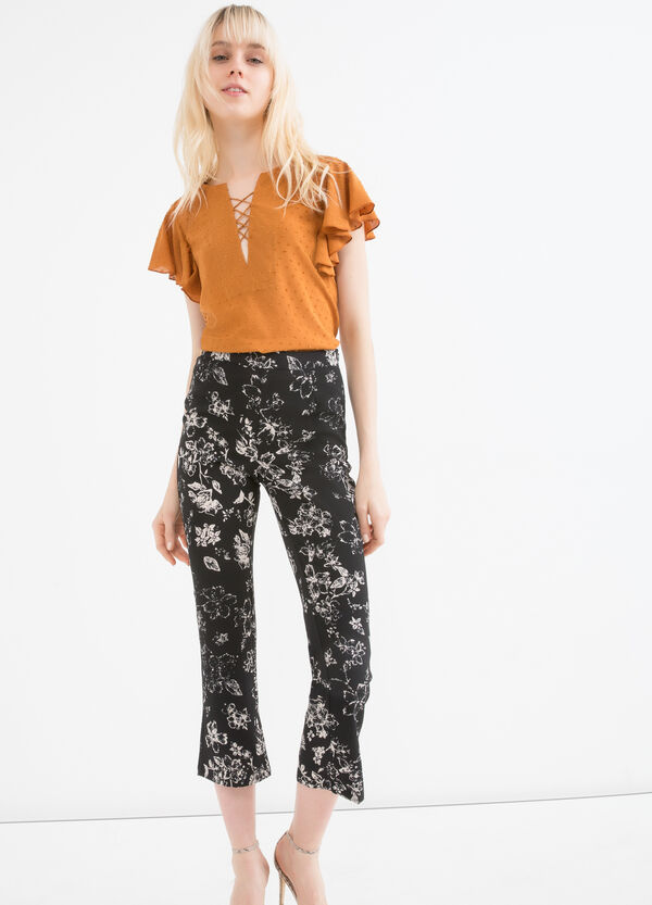 Floral stretch trousers | OVS