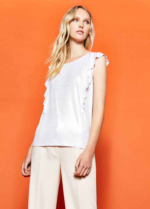 Glitter top with flounce | OVS