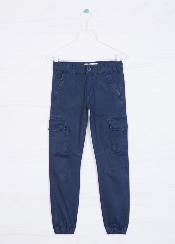 Pantaloni cargo in cotone stretch | OVS