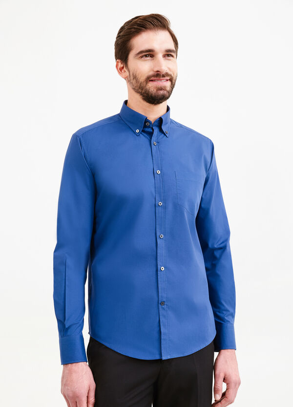Slim-fit formal shirt with small pocket | OVS