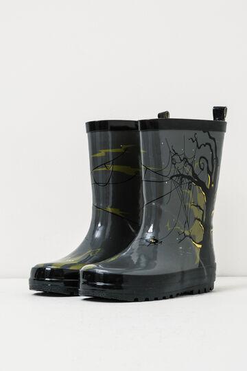 Printed rain boots, Black/Grey, hi-res