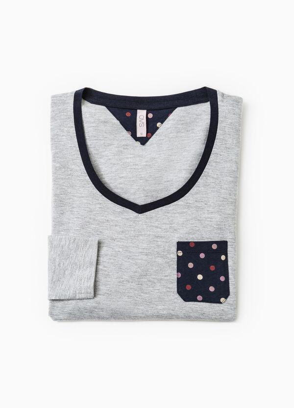 V-neck cotton pyjama top | OVS
