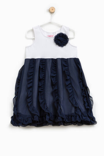 Two-tone dress with flower