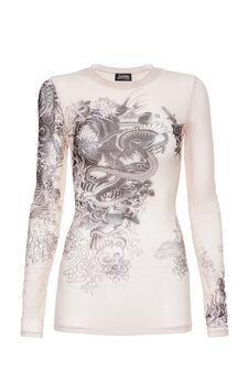 Tattoo T-shirt, Jean Paul Gaultier for OVS, Ecru Brown, hi-res