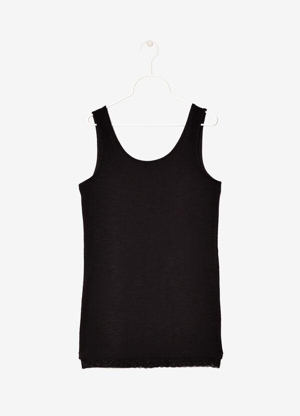 Cotton slub vest | OVS