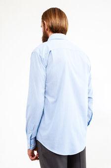 Regular-fit formal striped shirt, White/Light Blue, hi-res