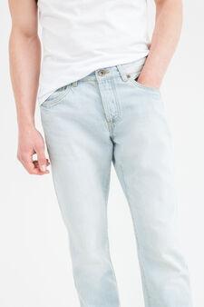 Jeans straight fit chiusura con bottoni, Lavaggio chiaro, hi-res