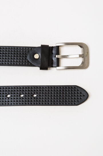 Openwork belt, Black, hi-res