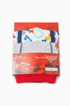 Cars print stretch cotton boxer shorts, White/Grey, hi-res