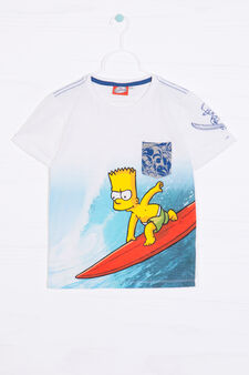 T-shirt cotone taschino The Simpsons, Bianco sporco, hi-res