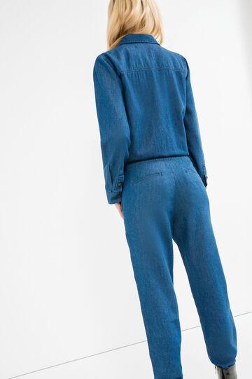 Abito tuta di jeans con tasche, Blu denim, hi-res