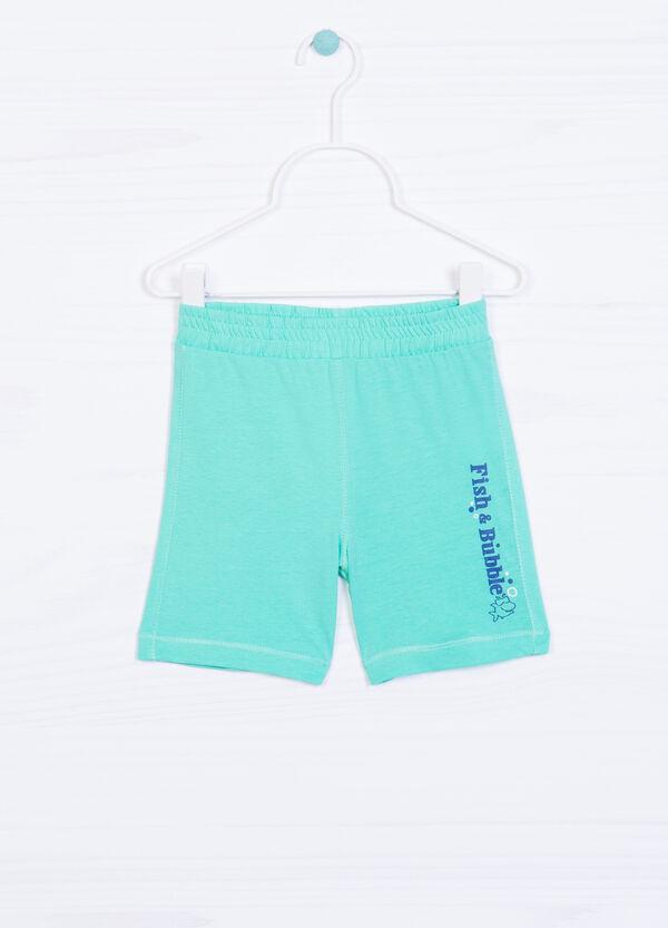 Pantaloni cotone stampa lettering | OVS
