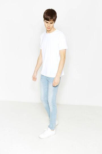 Jeans skinny fit stretch effetto used, Lavaggio chiaro, hi-res