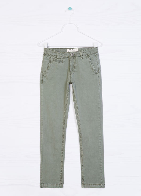 Stretch cotton chinos | OVS