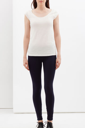Leggings stretch, Blu scuro, hi-res