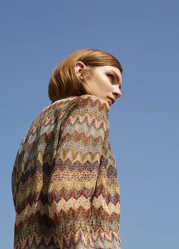 Long patterned sleeveless dress   OVS