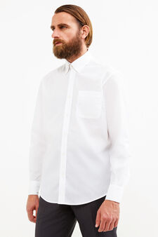 Regular-fit formal shirt with small pocket, White, hi-res