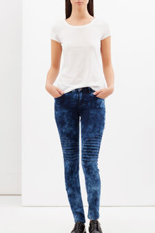 Jeans biker skinny fit, Lavaggio medio, hi-res