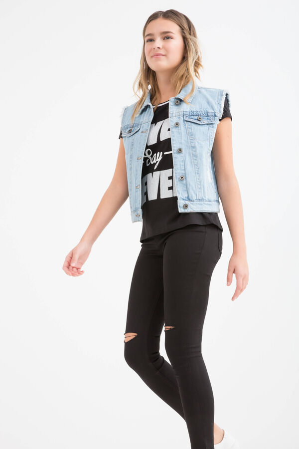 Gilet di jeans delavé Teen | OVS