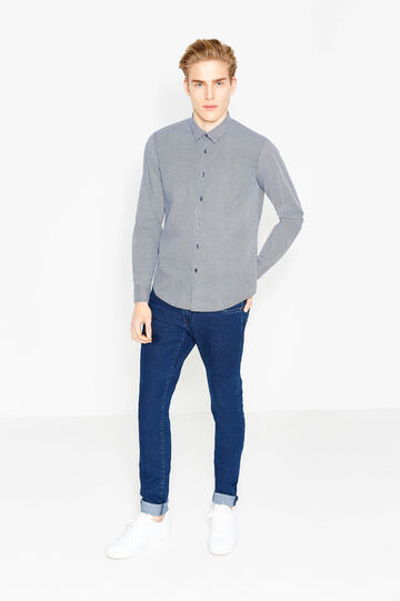Slim-fit casual shirt with pattern