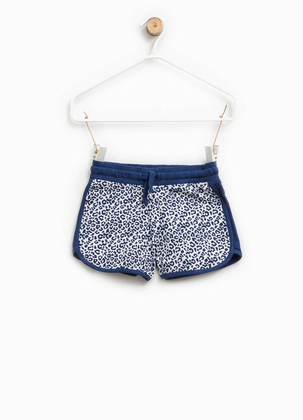 Patterned shorts in stretch cotton | OVS
