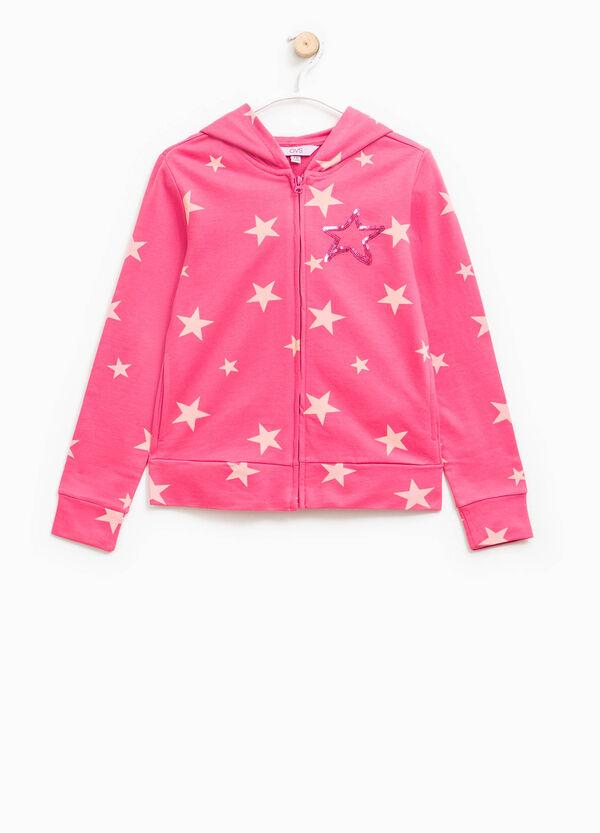Star pattern sweatshirt in cotton | OVS