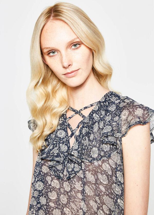 Semi-sheer floral blouse | OVS