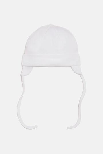 Beanie hat with self-tie closure, Cream White, hi-res