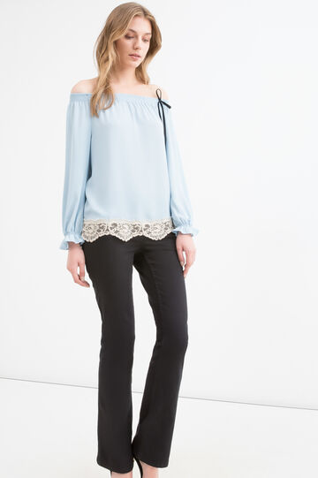 Blouse with boat neck