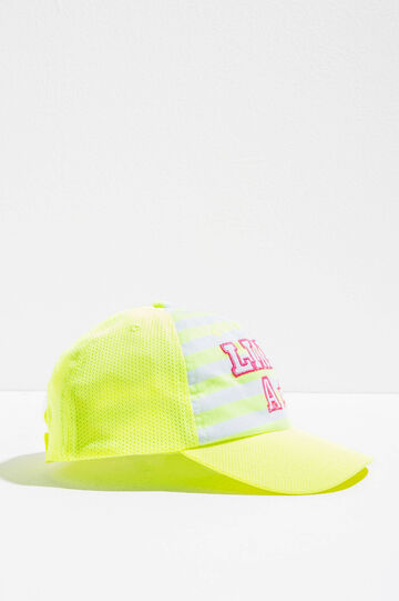 Openwork baseball cap with stripes