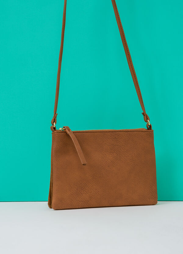Leather look shoulder bag | OVS