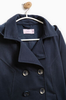Solid colour jacket with lapels., Dark Blue, hi-res