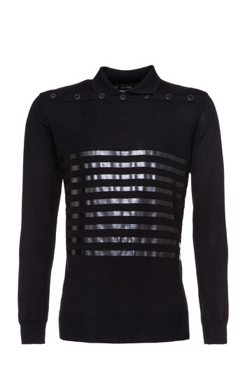 Tricot classica Jean Paul Gaultier for OVS, Nero, hi-res