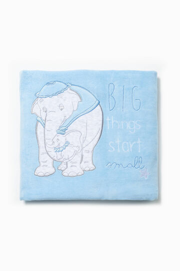 Blanket one side with Dumbo patch and one patterned side, White/Light Blue, hi-res