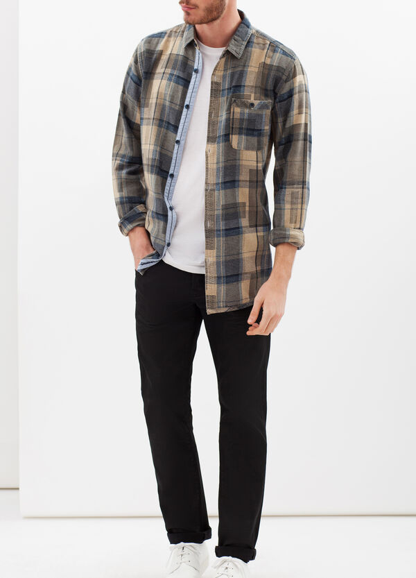 G&H check shirt in 100% cotton | OVS