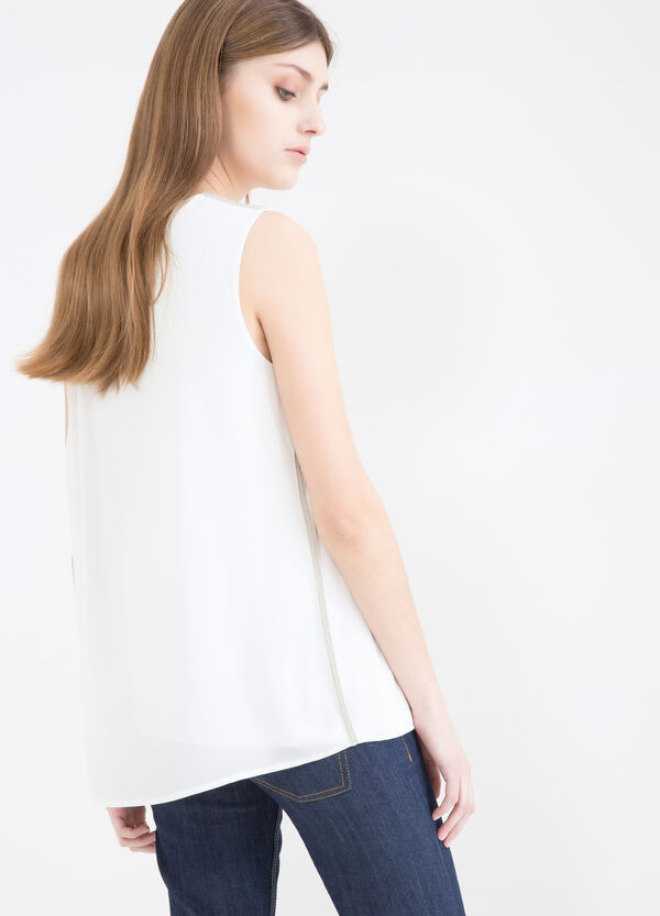 Solid colour 100% viscose blouse. | OVS