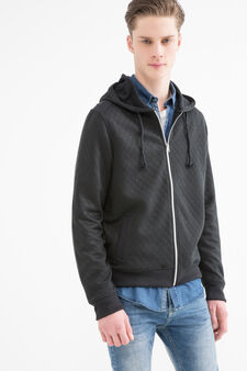 G&H cotton blend hoodie, Dark Grey, hi-res