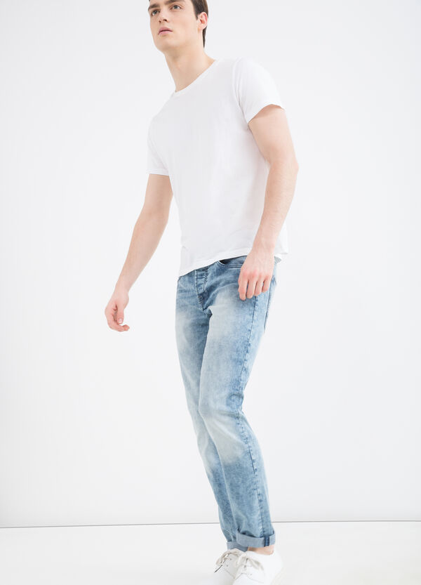 Slim-fit, faded stretch jeans | OVS