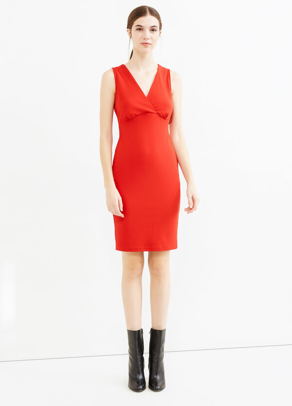 Sleeveless stretch jersey dress | OVS