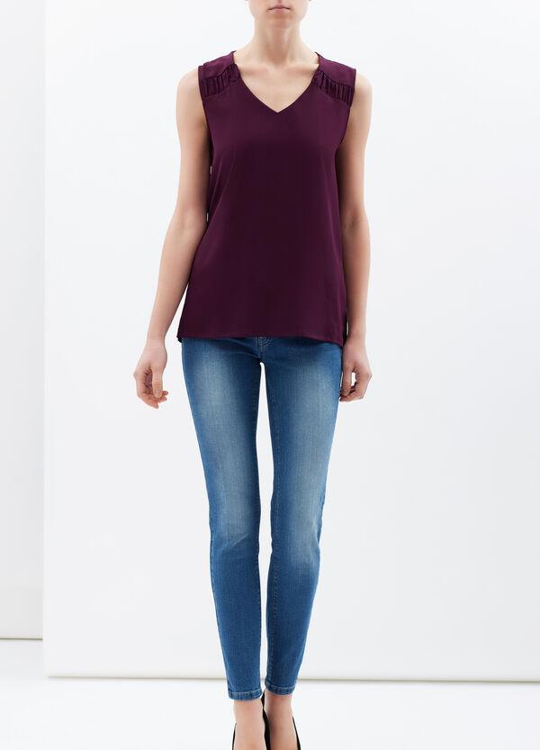 Plain sleeveless blouse.   OVS