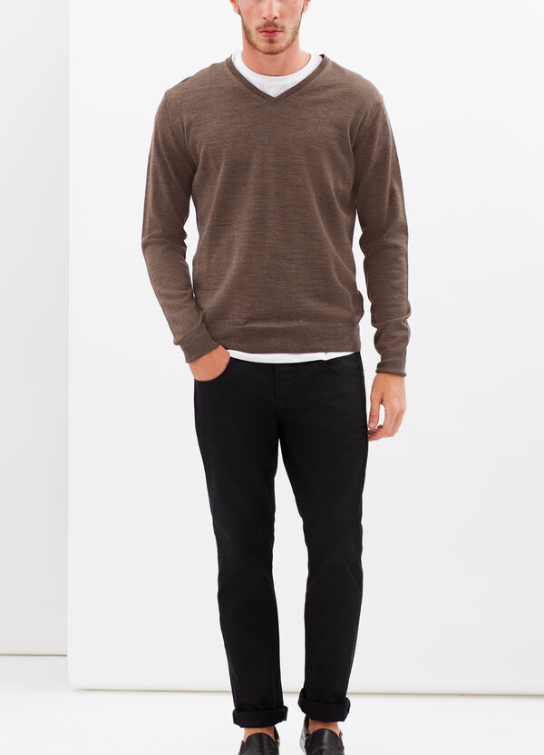V-neck pullover in wool blend | OVS
