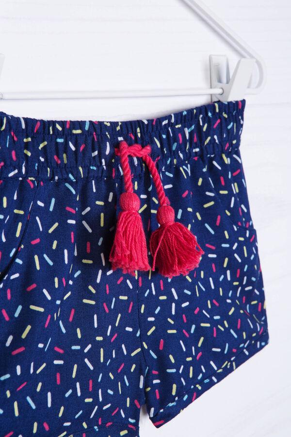 Pantaloni corti viscosa con stampa | OVS