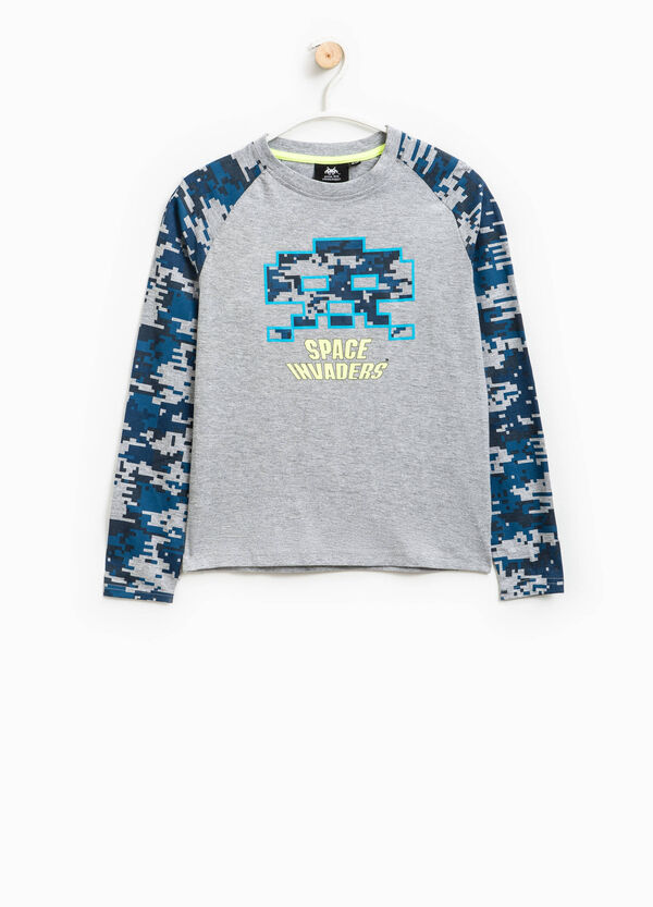 Camiseta de algodón con estampado de Space Invaders | OVS