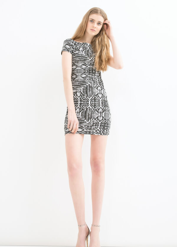Short printed dress in stretch cotton | OVS